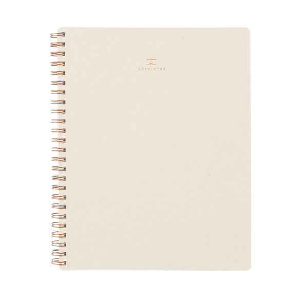 Appointed Workbook Natural Linen A5 Grid Notebook