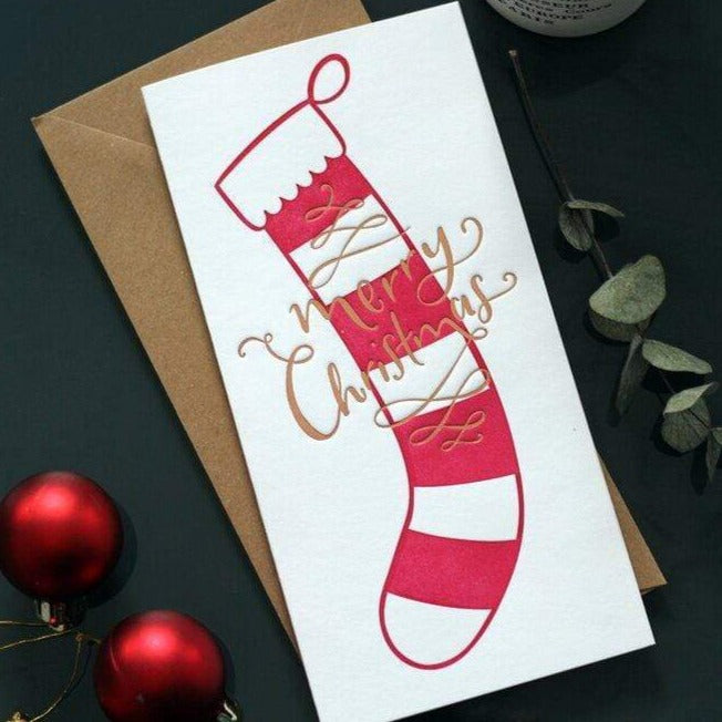 Merry Christmas Stocking Money Wallet Card