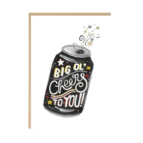 Big Ol' Cheers to You Congratulations Card