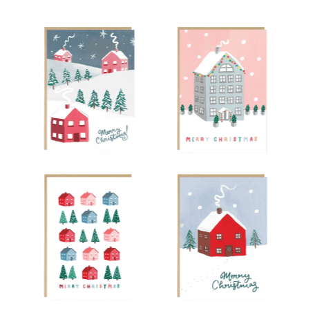 Pack of 8 Jade Fisher Christmas Cards - 4 Designs
