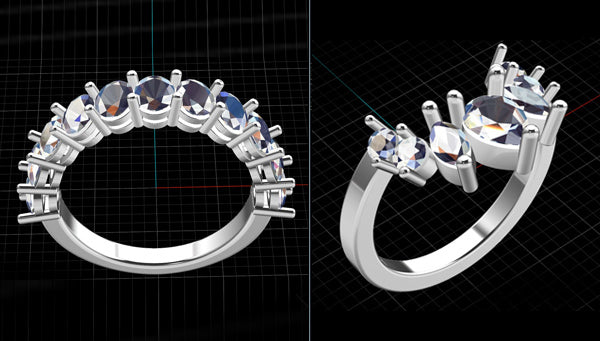 CAD Rendering of Jewelry
