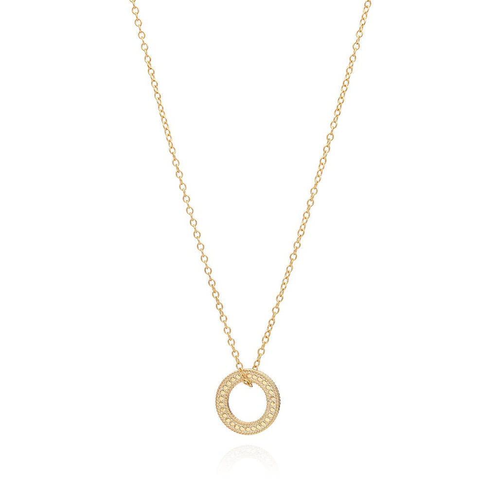 "Circle of Life Open ""O"" Necklace - Gold"