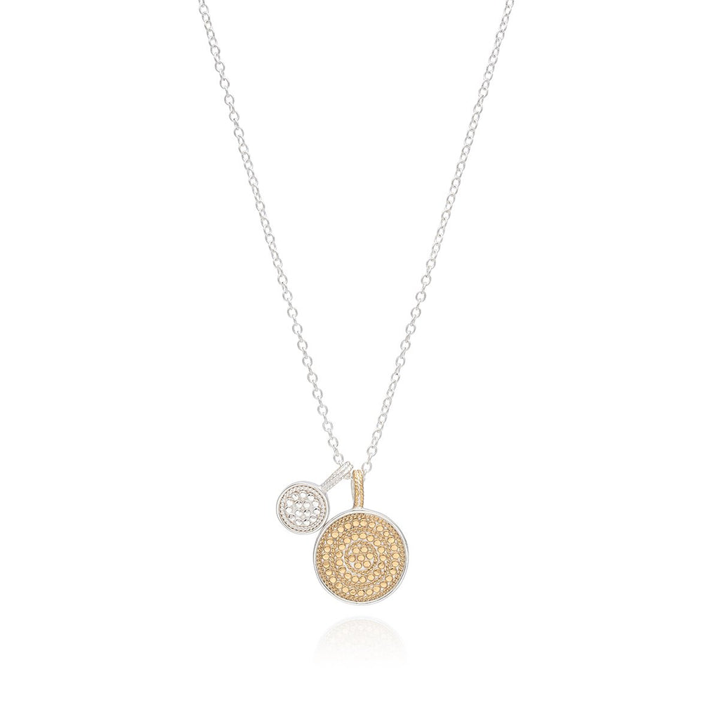 Circle of Life Dual Divided Disc Charity Necklace - Gold