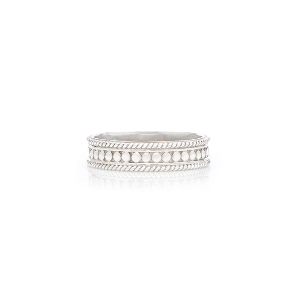 Dotted Stacking Ring - Silver
