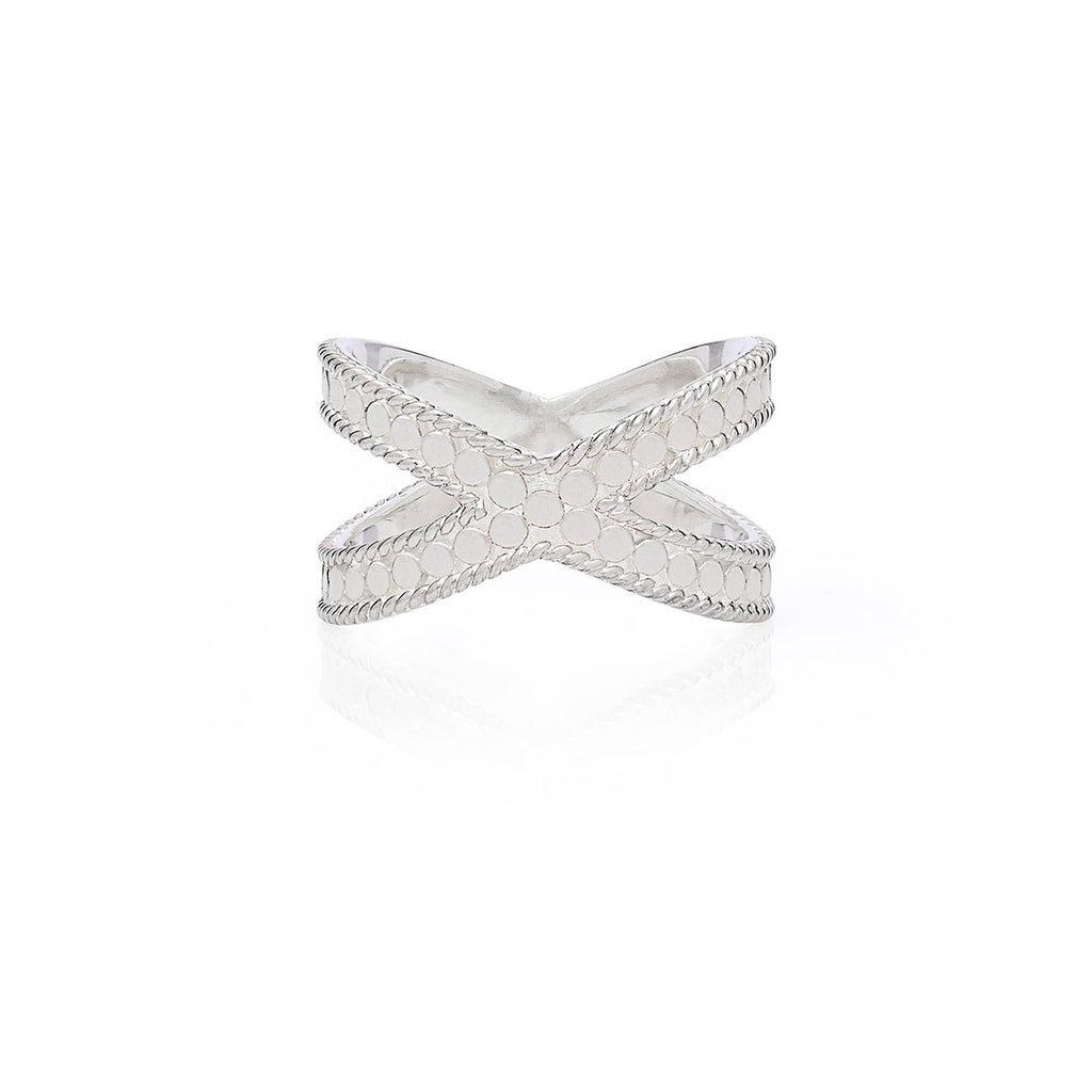 Classic Cross Ring - Silver