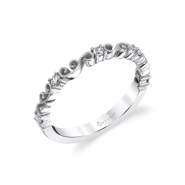 Stackable Diamond Wedding Band