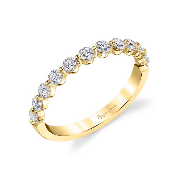 White Gold Stackable Diamond Wedding Band