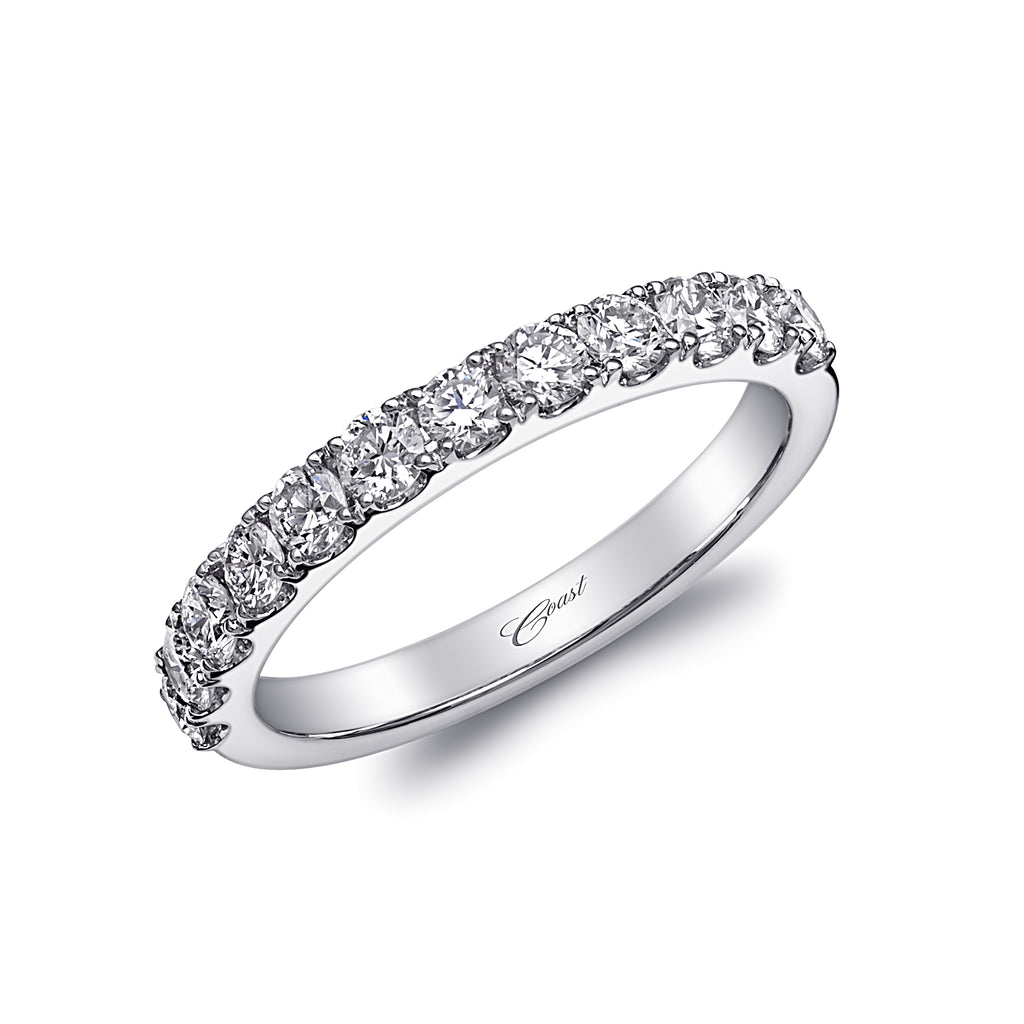 14K White Gold Diamond Wedding Band WC20017