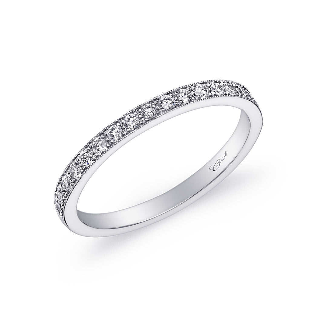 14K White Gold Diamond Wedding Band WC5191HC