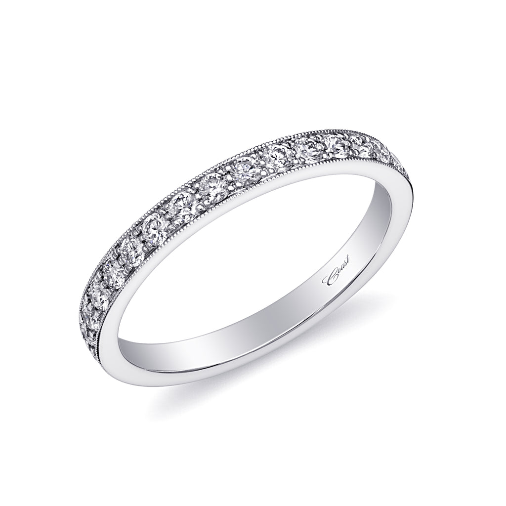 14K White Gold Diamond Wedding Band WC5191HD