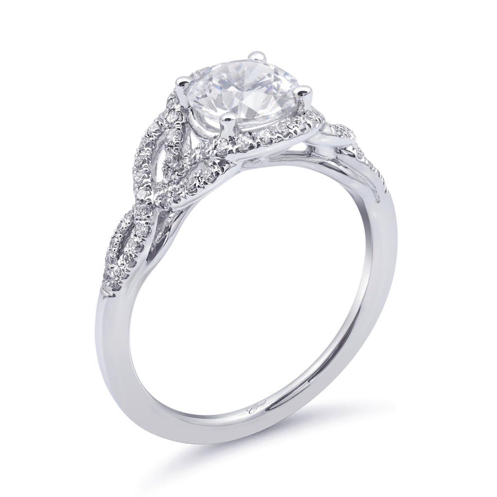 Diamond Engagement Ring With Fishtail Design LC6103