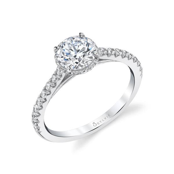 Hidden Halo Engagement Ring - Harmonie