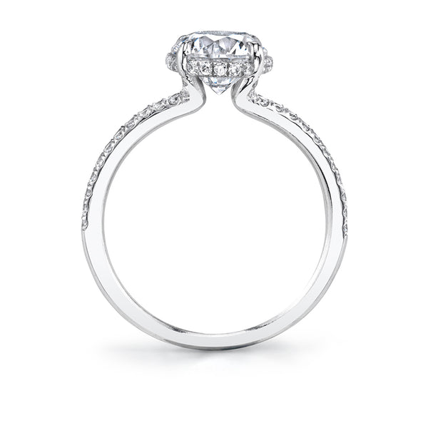 Hidden Halo Engagement Ring - Serena