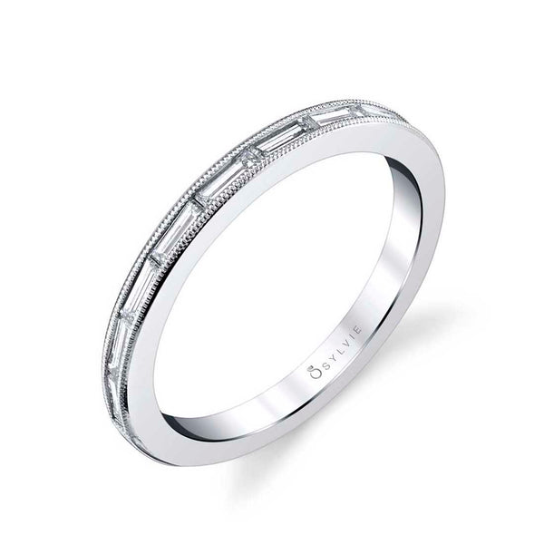 Baguette Wedding Band - Romi