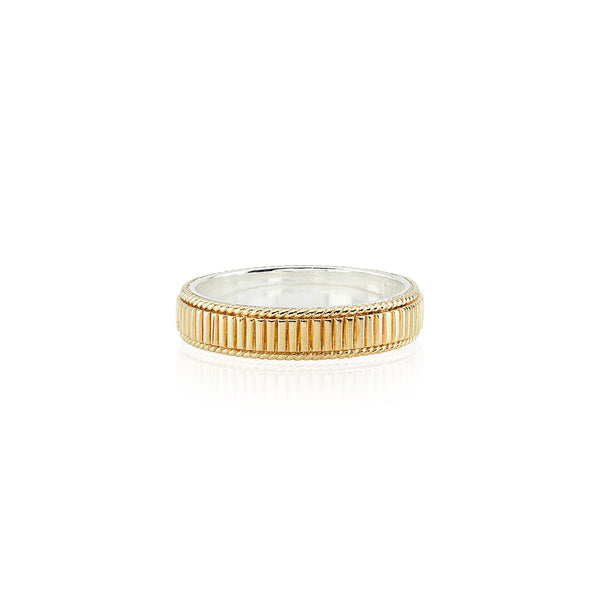 Ribbed Stacking Ring - Gold