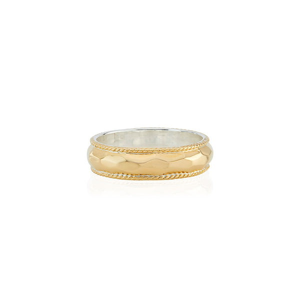 Hammered Stacking Ring - Gold