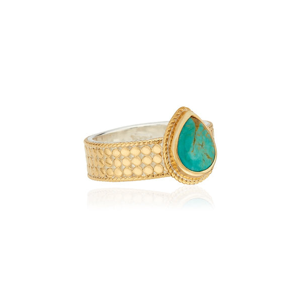 ANNA BECK TURQUOISE DROP RING