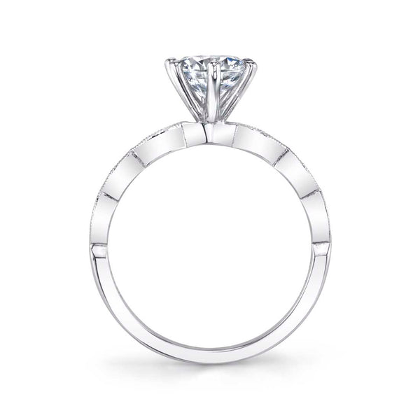 Round Classic Engagement Ring - Chanelle