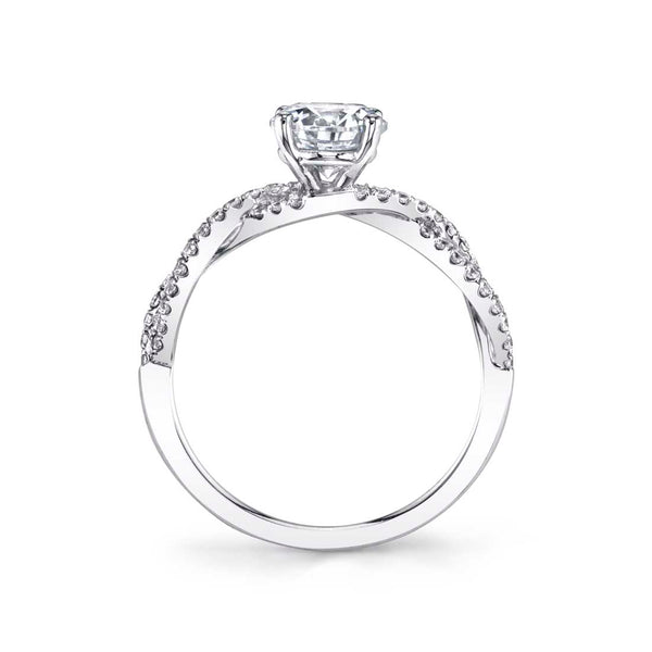 Spiral Diamond Engagement Ring - Celeste