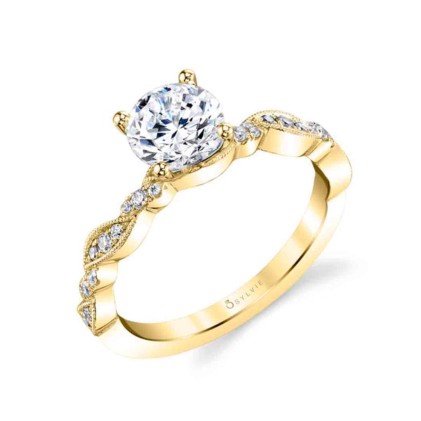 Unique Diamond Engagement Ring - Valerie