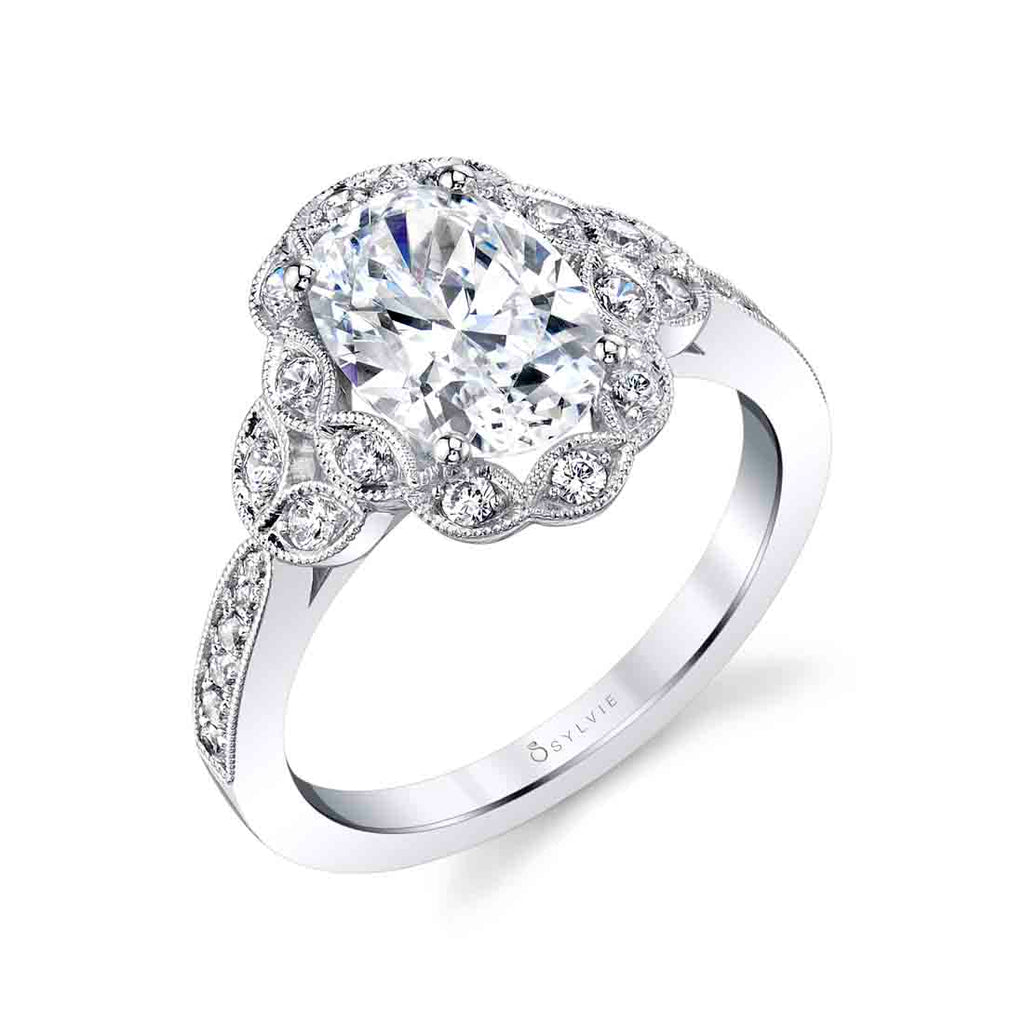 Oval Diamond Engagement Ring - Candide