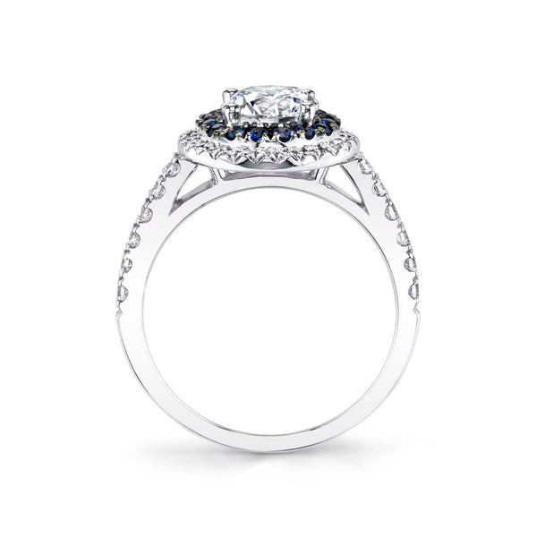 Classic Double Halo Engagement Ring - Angele