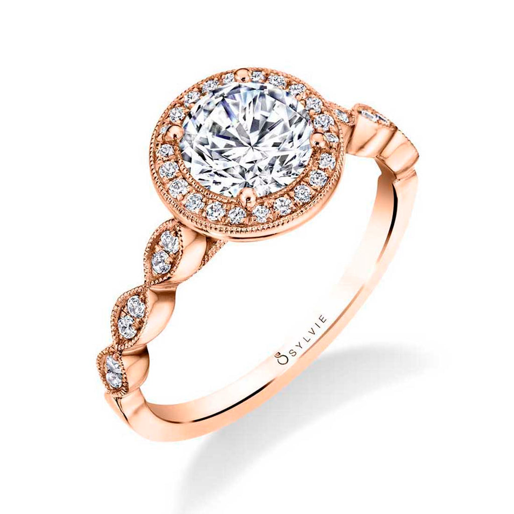 Vintage Inspired Stackable Diamond Engagement Ring - Jessa