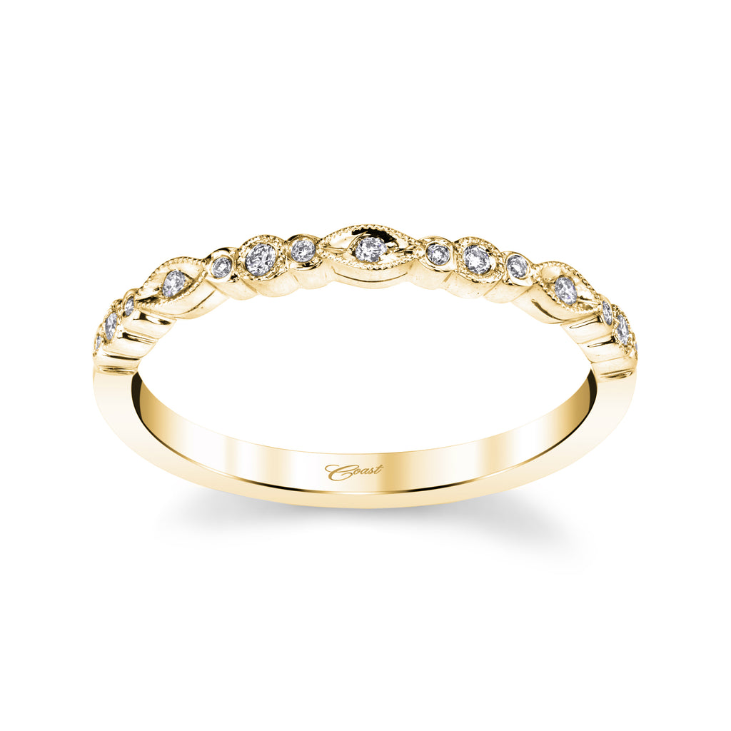 14K Rose Gold Stackable Diamond Band