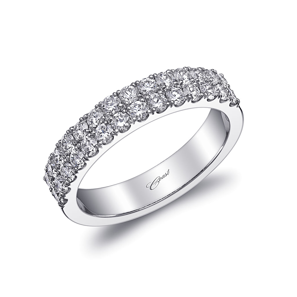 14K White Gold Diamond Wedding Band WC20018