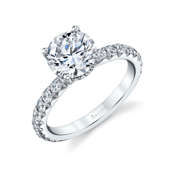 Classic Wide Band Engagement Ring - Malencia