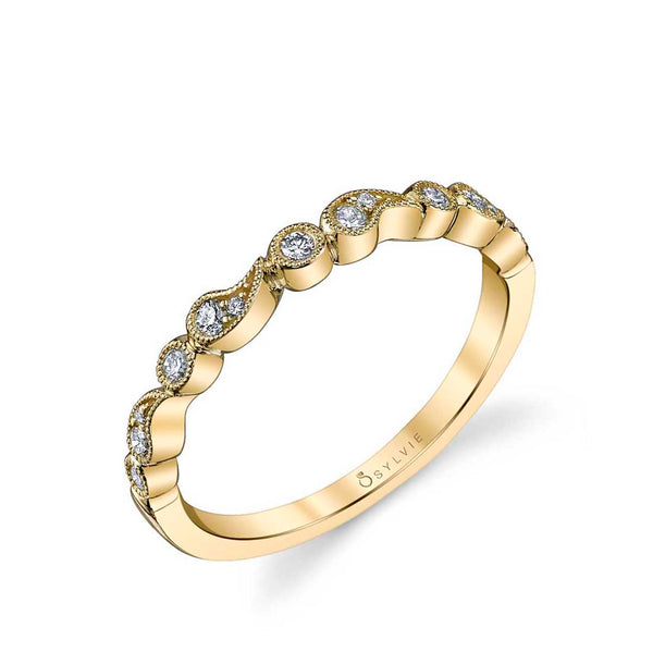 Stackable Diamond Wedding Band - Maeva