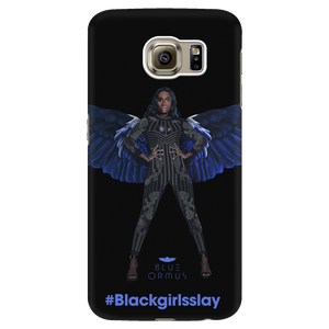 Blue Ormus Black girls slay Galaxy phone case
