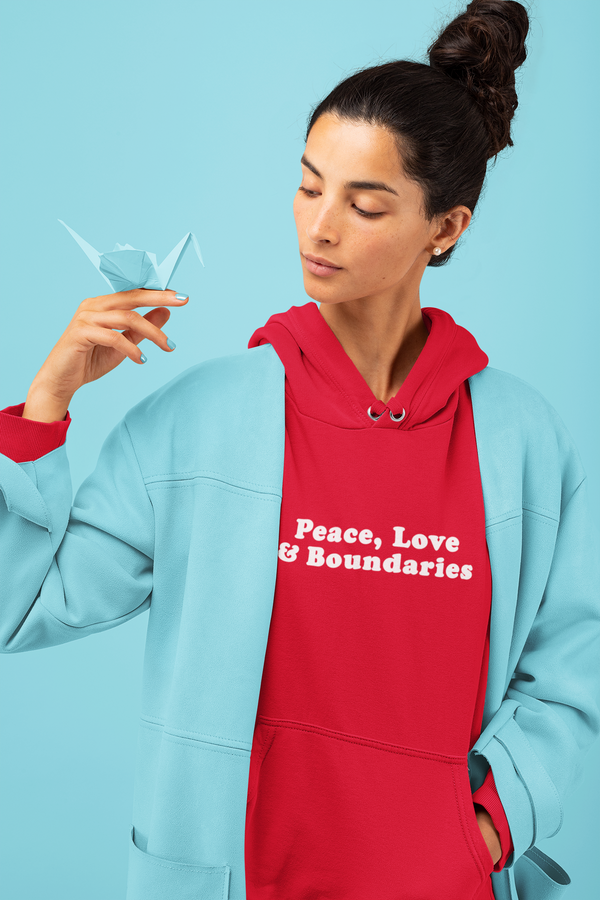 Peace, Love, & Boundaries Hoodie