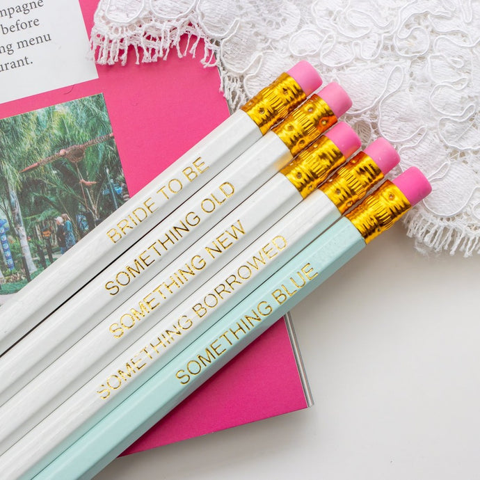 Something Blue Wedding Planning Pencils
