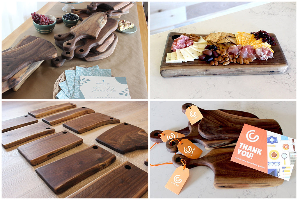 Corporate Client Gift Ideas - Housewarming Gift Ideas - Wood Charcuterie Boards - Made in USA Gift Ideas