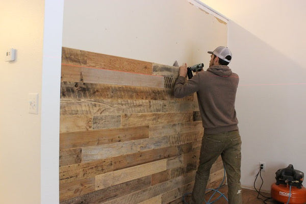 Installing a Reclaimed Wood Accent Wall