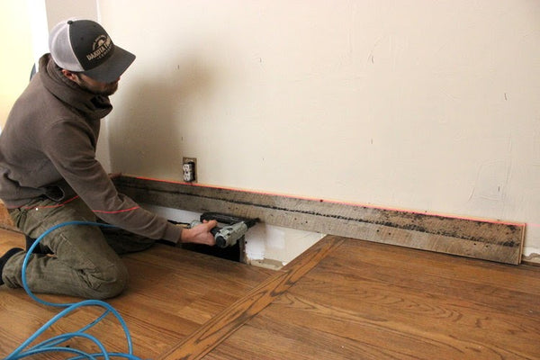 Installing Tongue & Groove Reclaimed Wood On Wall