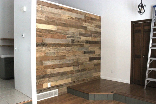 Reclaimed Tongue & Groove Accent Wall
