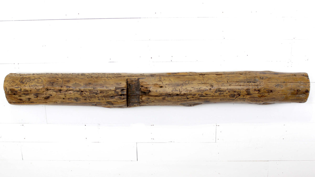 "6.5"" x 7"" x 67.25"" Homestead Hand-Hewn Mantel - Dakota Timber Co."