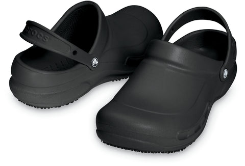 SALE - Crocs At Work Bistro Clog - Black - 100075-001
