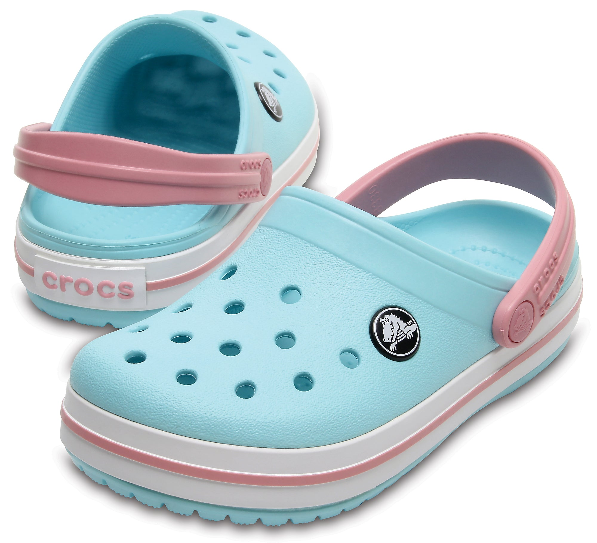 SALE - Crocs KIDS Crocband Clog - Ice Blue/White  - 204537-4S3