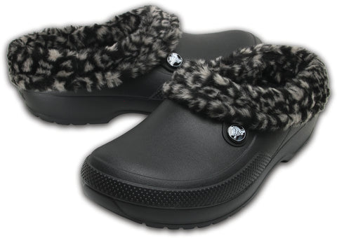 SALE - Crocs Blitzen Animal - Black/Tumbleweed - 204566-0LB