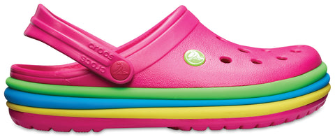 SALE - Crocs Rainbow Band Clog - Candy Pink - 205212-6X0