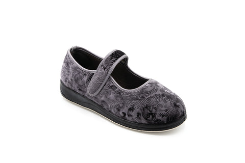 Padders Peggy Slippers Grey Ladies