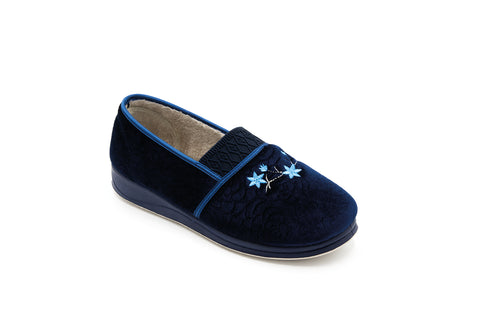 Padders Michelle Slippers Navy Ladies