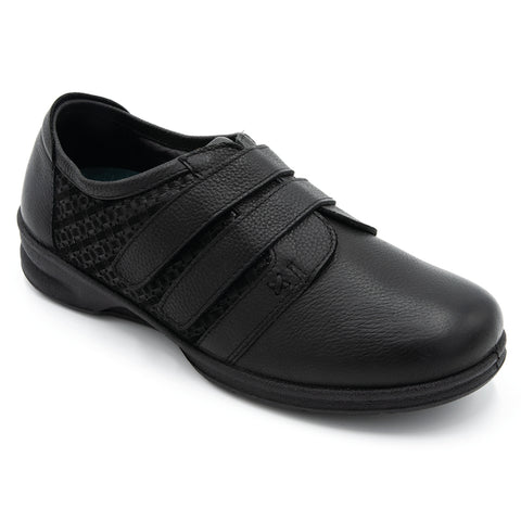 Padders Dayna Black Velcro Shoes Ladies