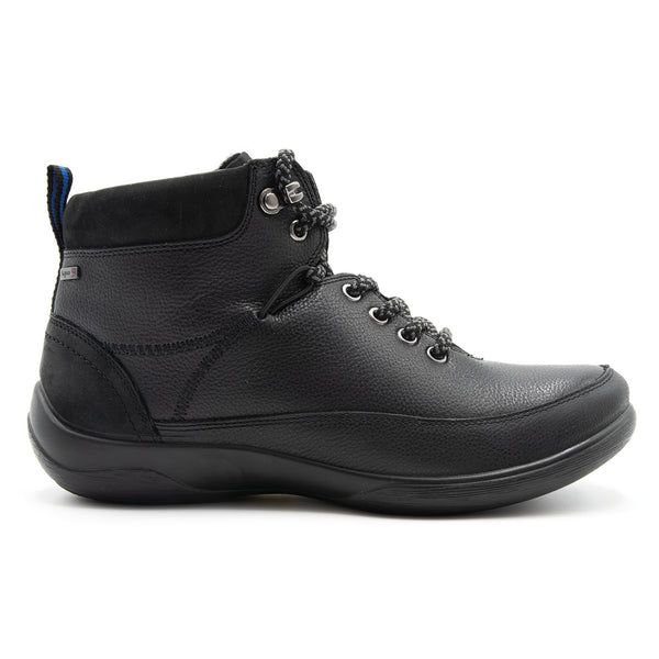 Padders Stoneywell Black Ladies Ankle Boot