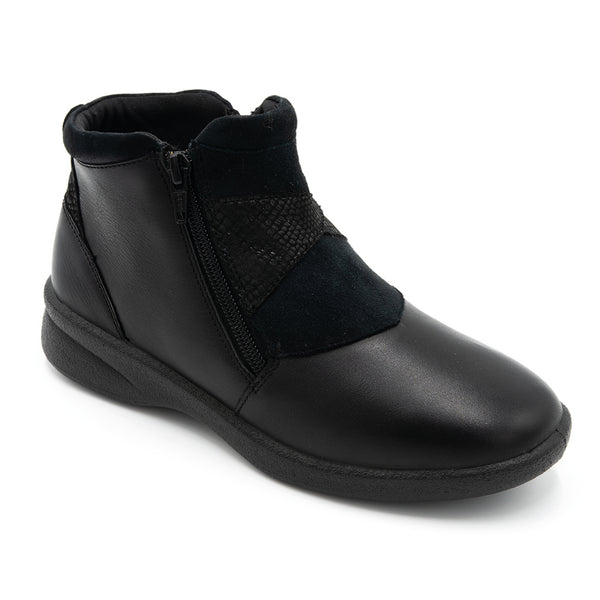 Padders Rosalyn Black Ladies Ankle Boot