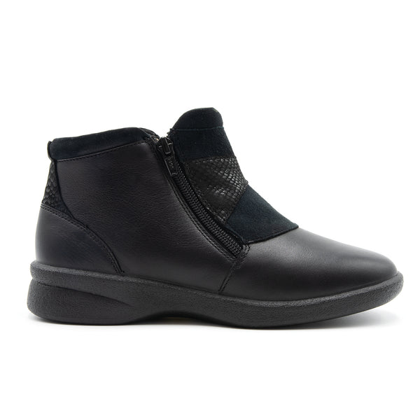 SALE - Padders Rosalyn Ankle Boot - Black - UK7