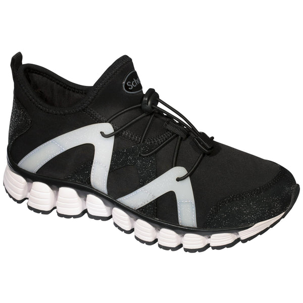 Scholl Galaxy Roll Trainers Black/White Ladies